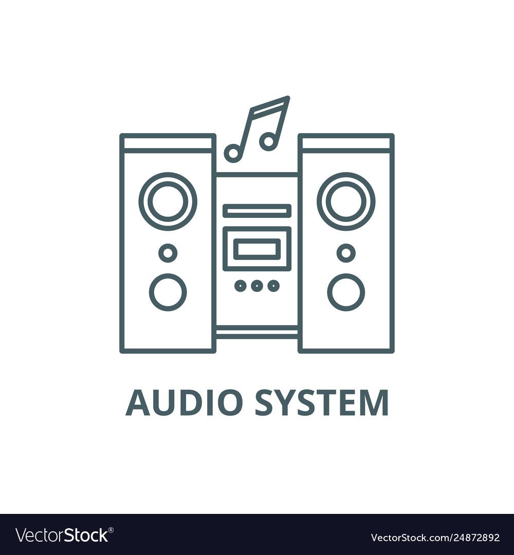 Audio system line icon audio system