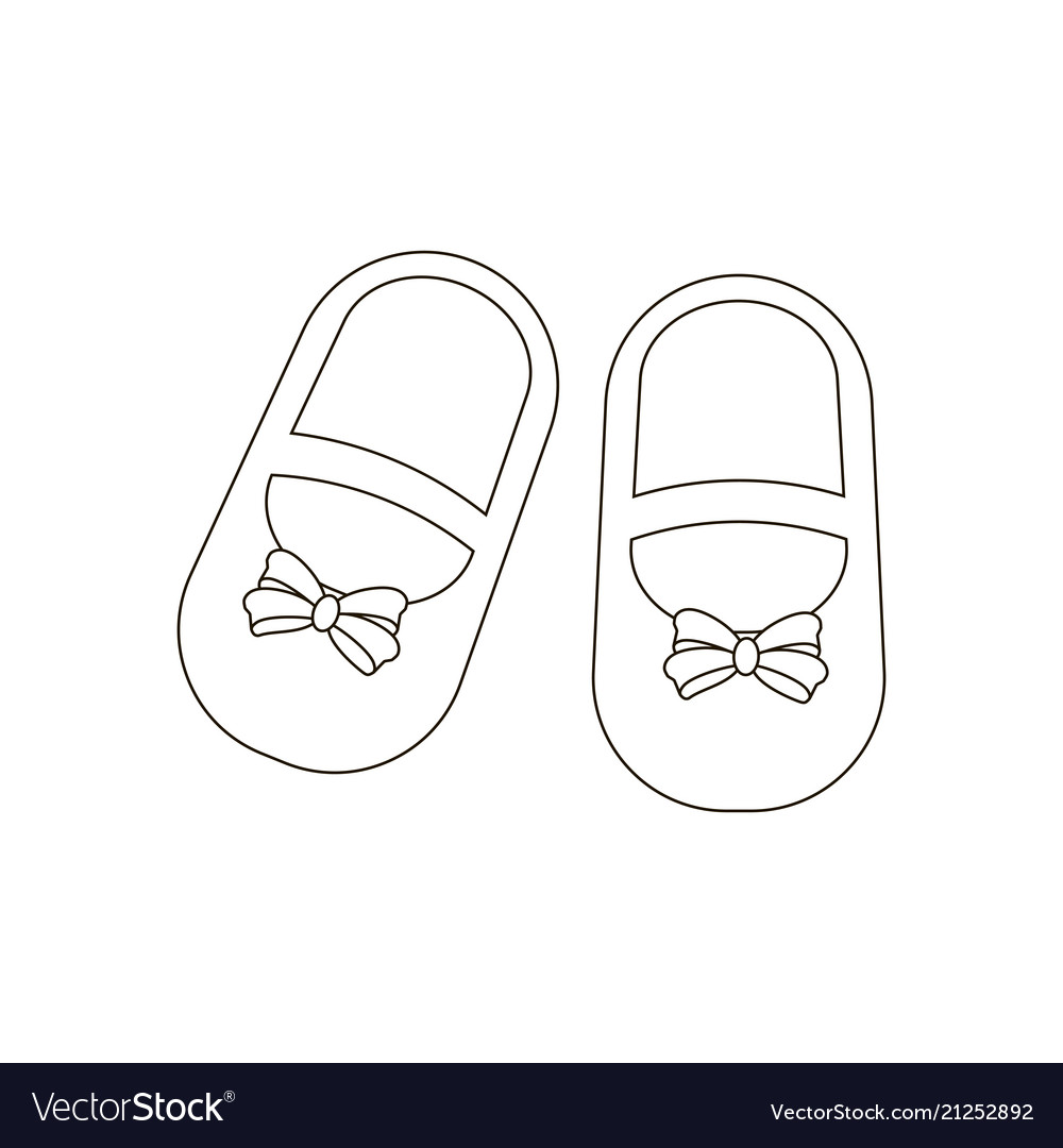 4a0fd19df7a7f Baby girl shoes Royalty Free Vector Image - VectorStock