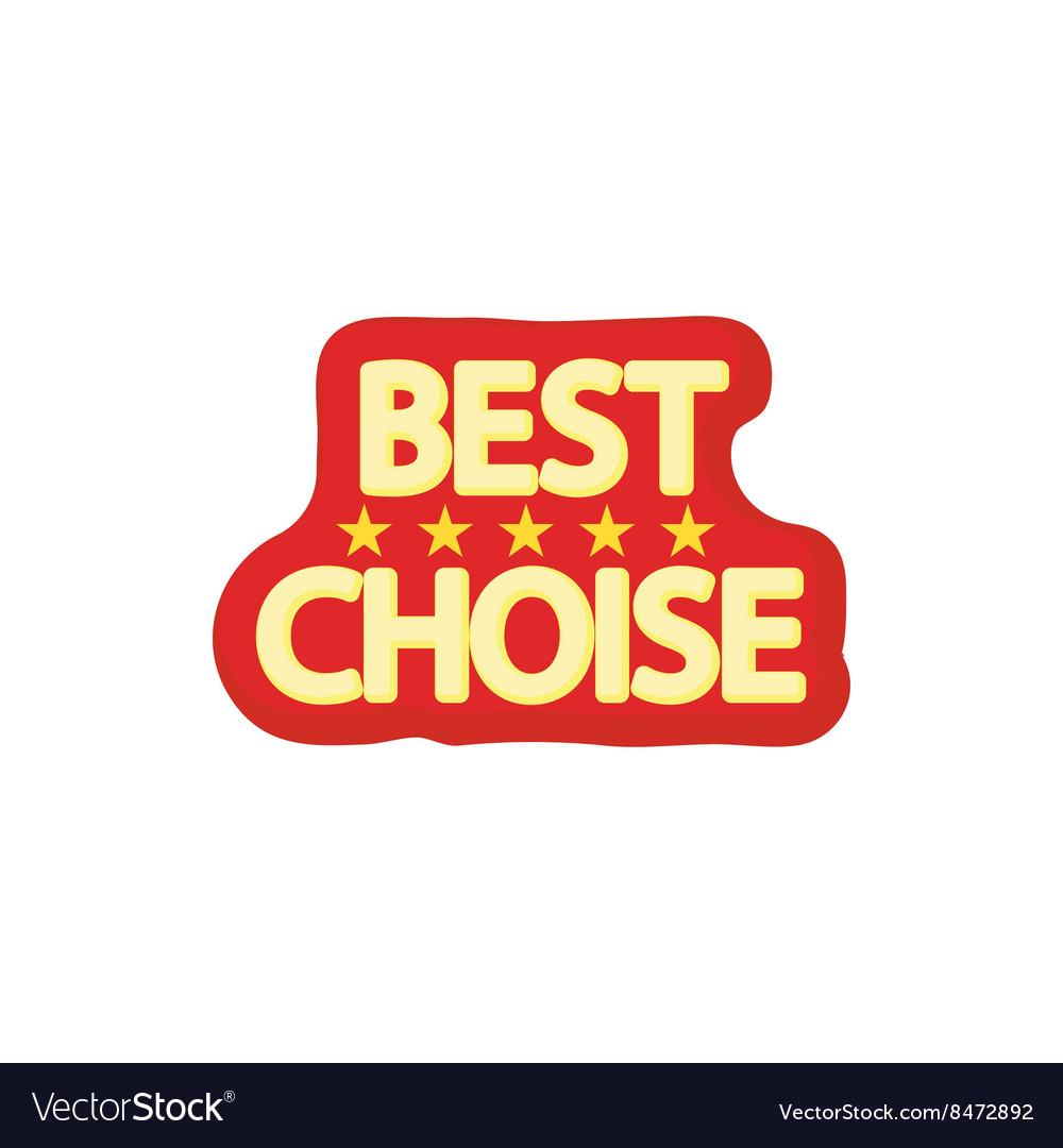 Best choice icon cartoon style