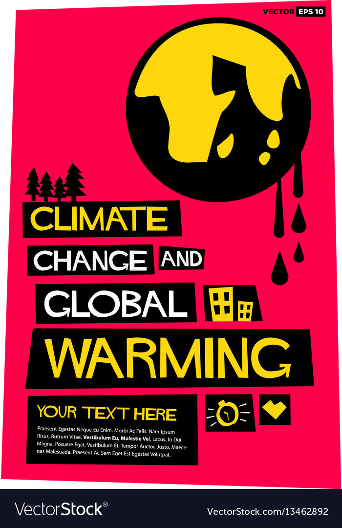 Climate change and global warming vector image