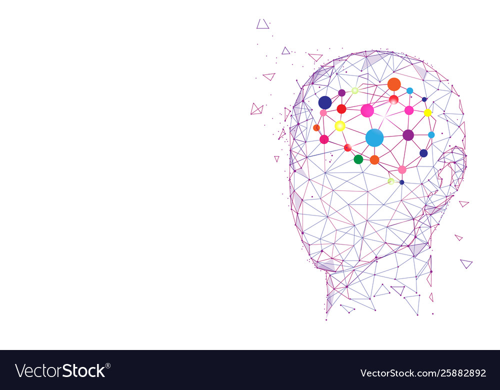 Human head and brain creation and idea concept