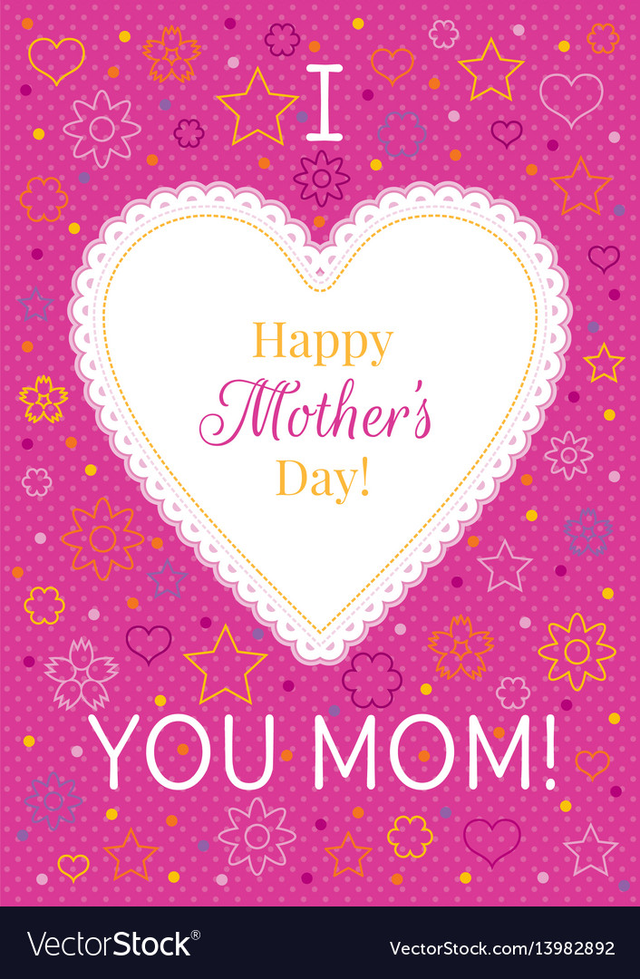 Mother/'s Day greeting card /'For you Mum/'