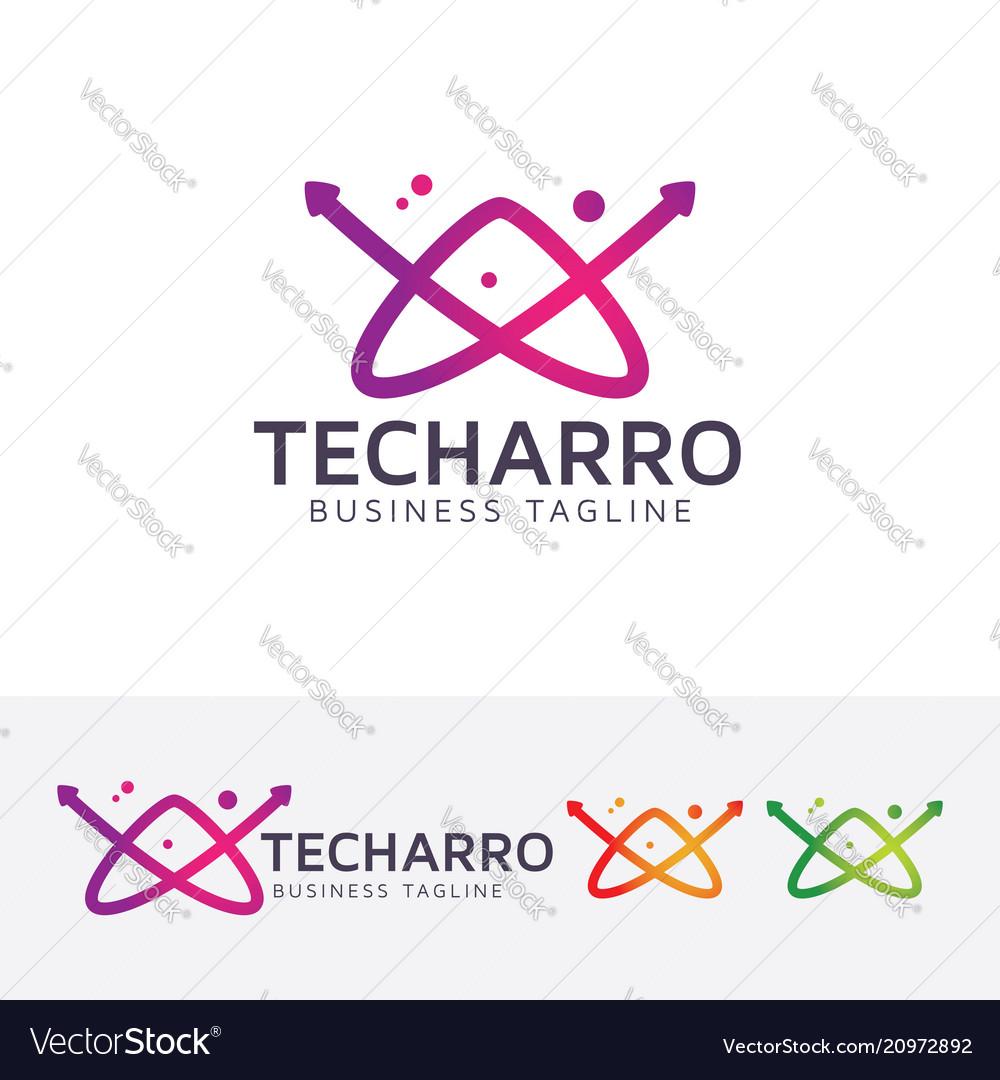 Letter a - technology logo design