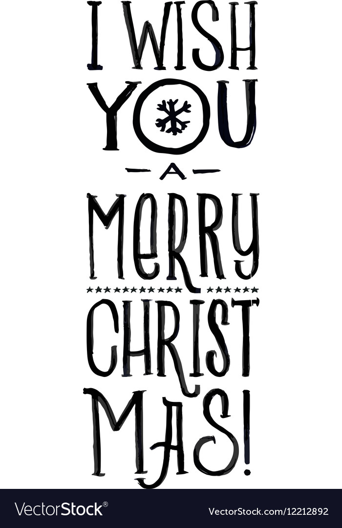 Merry Christmas Retro Poster Black and