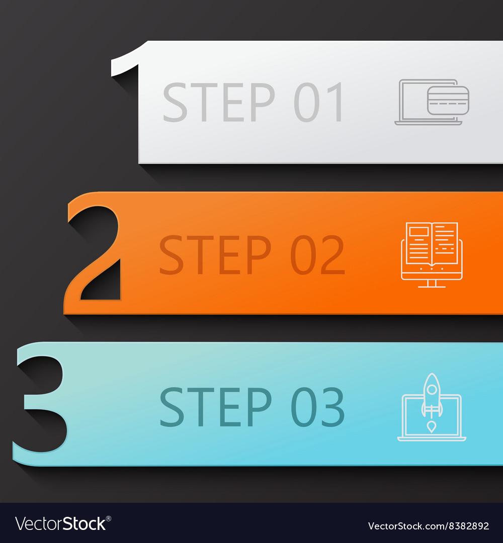Modern 3 steps infographics