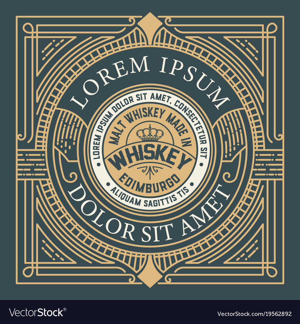 Original label vintage style