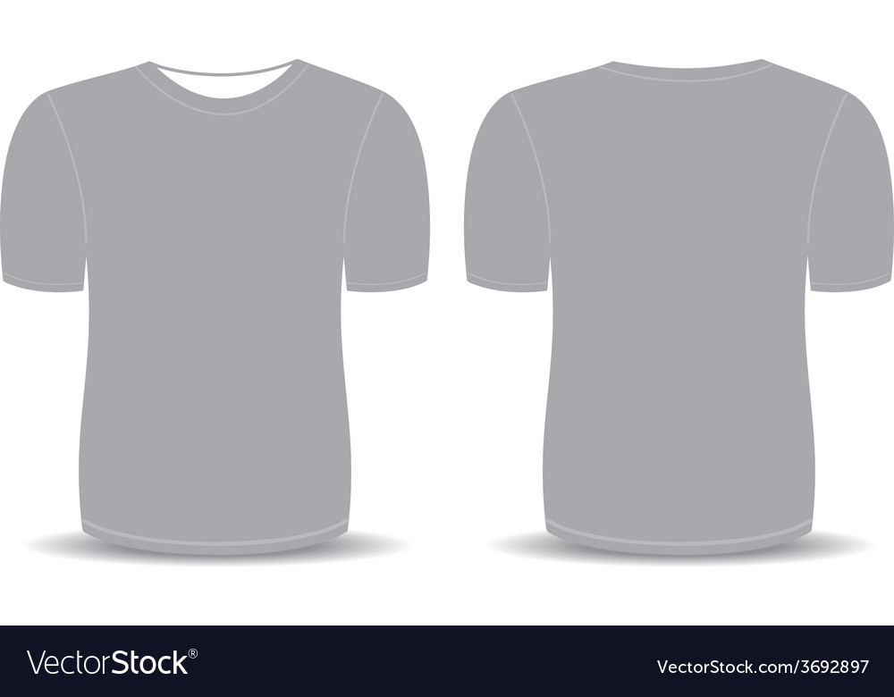 Blank T Shirt Gray Template Royalty Free Vector Image