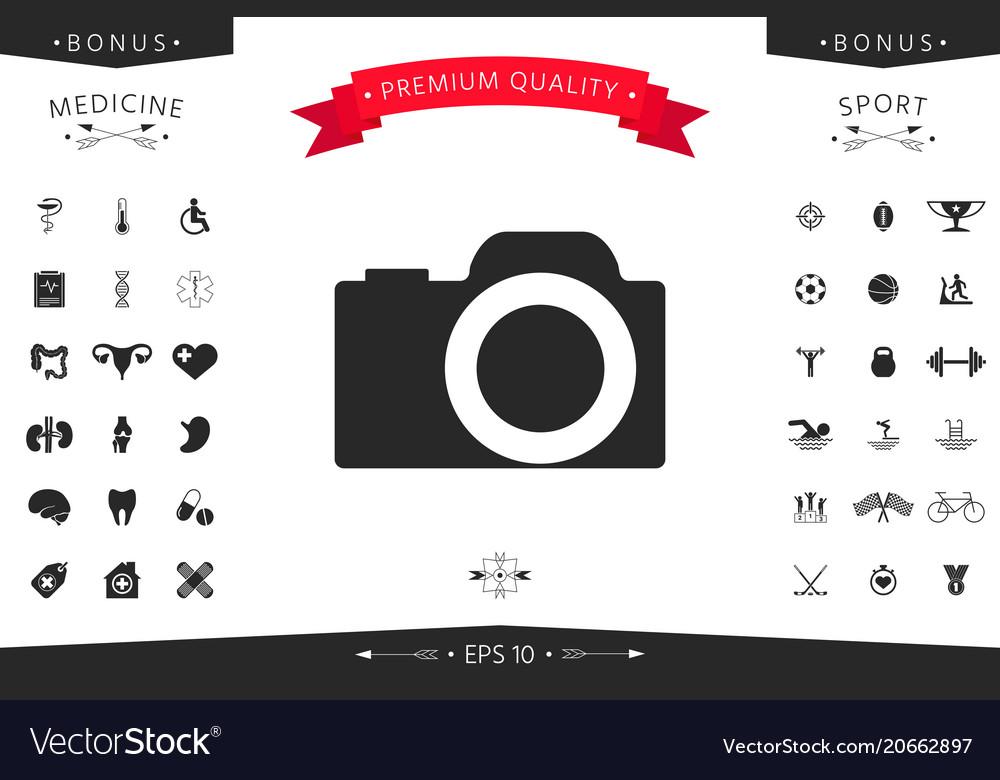 Camera Symbol Icon Royalty Free Vector Image Vectorstock