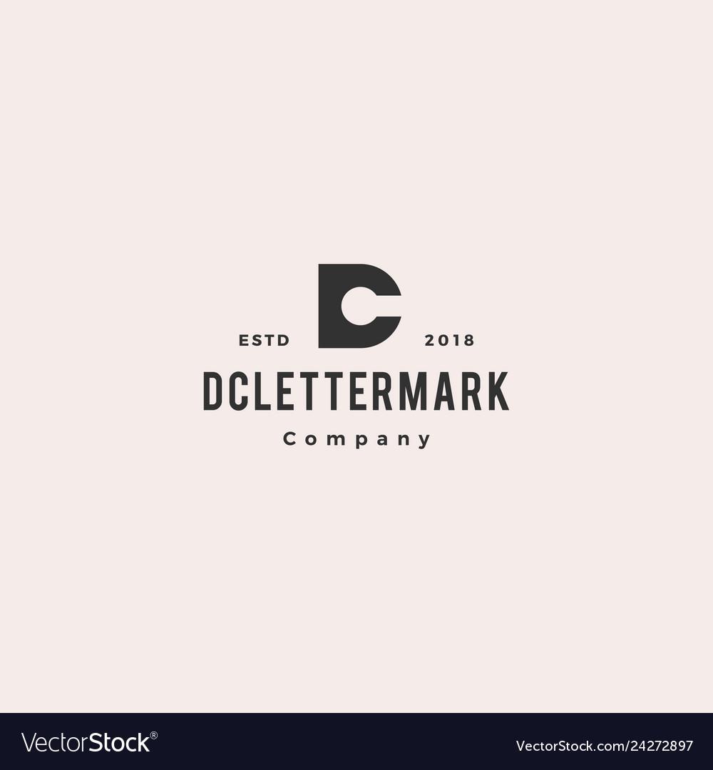 Dc cd letter logo hipster retro vintage icon