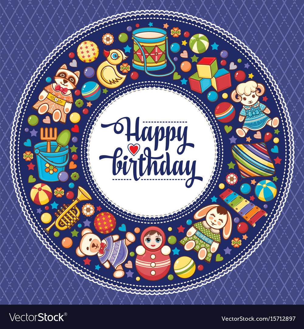Happy brithday greeting card