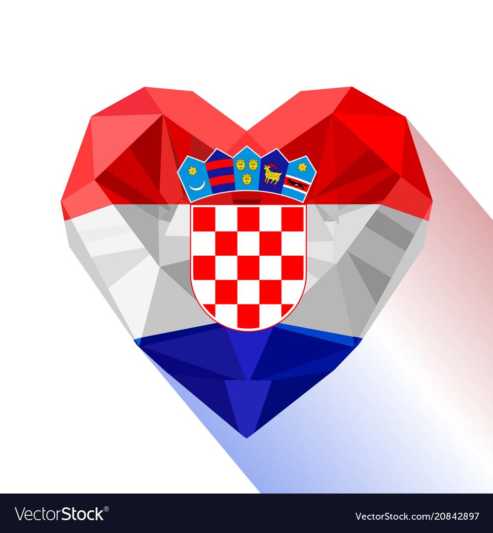 Heart The Flag Of The Republic Of Croatia Vector Image