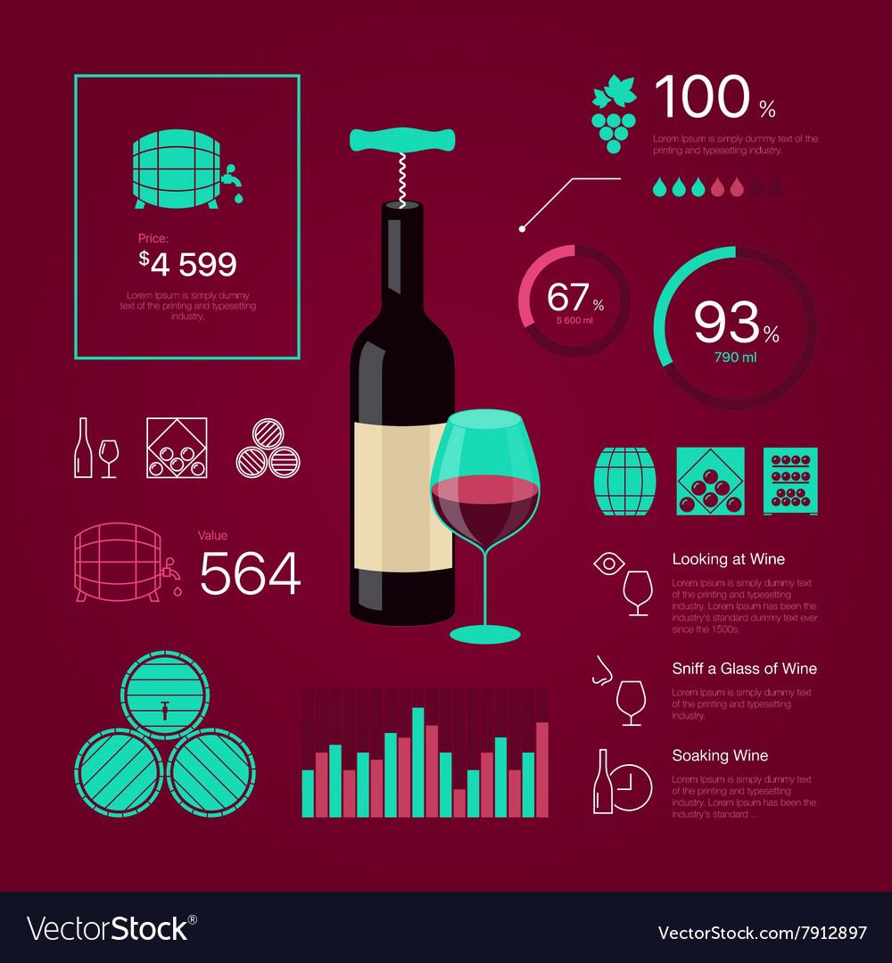 Wine infographic vector image