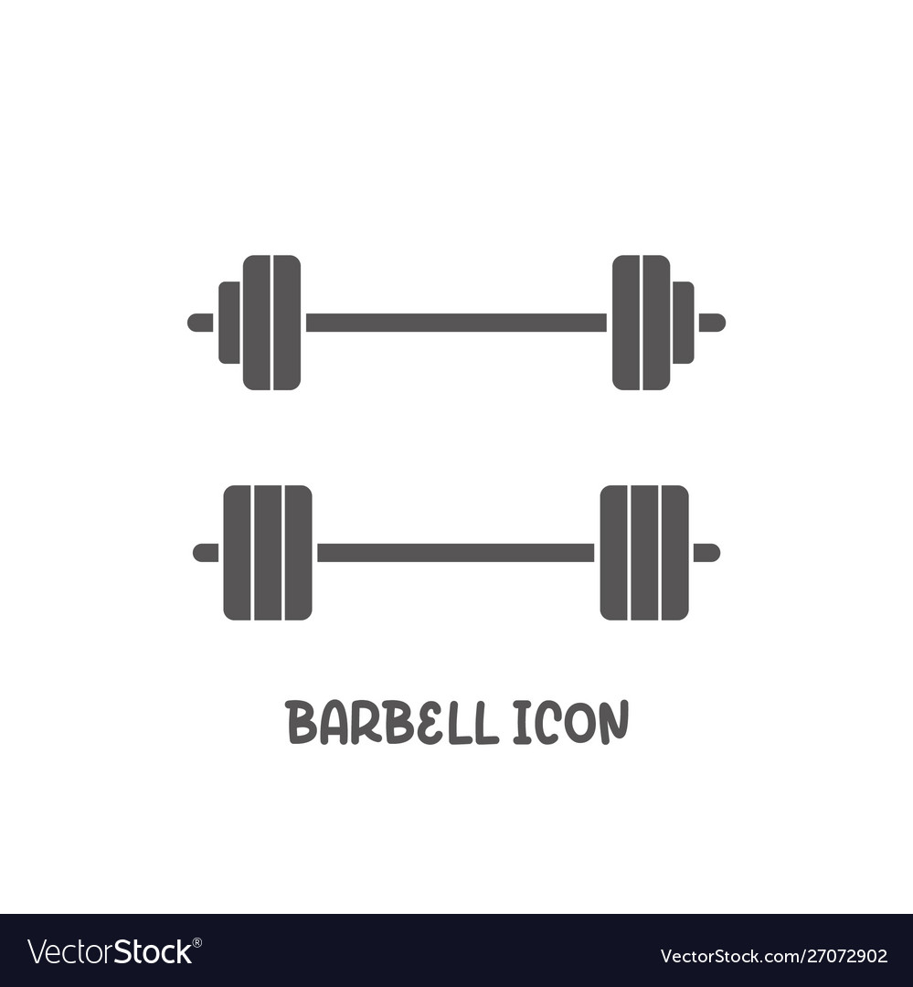 Barbell icon simple flat style