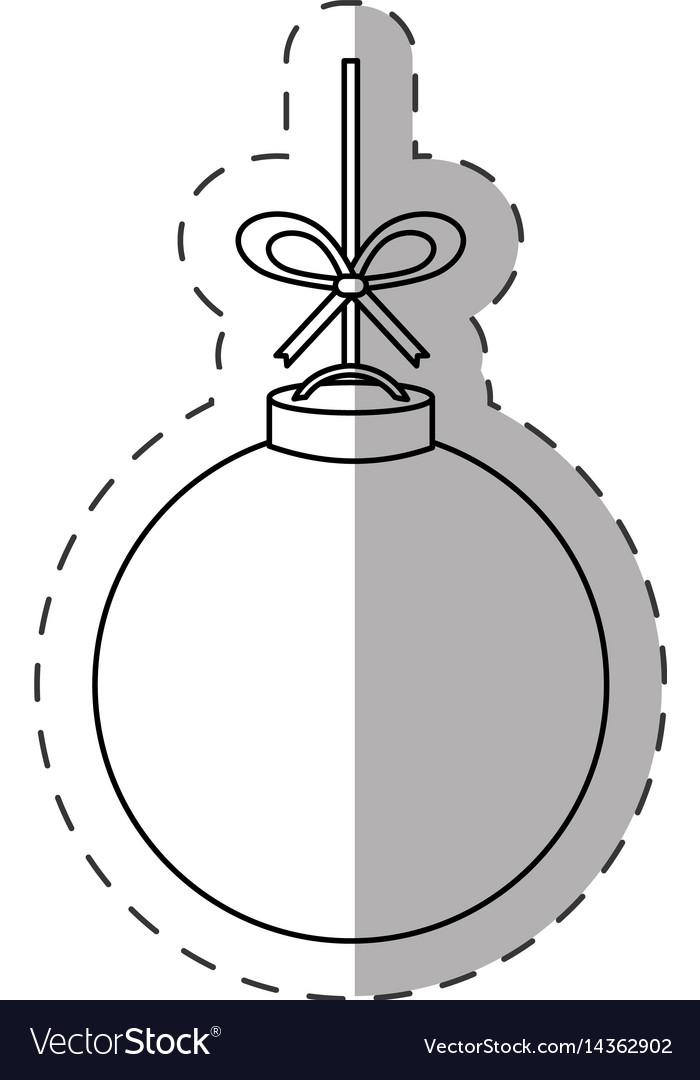 Christmas ball decoration cut line