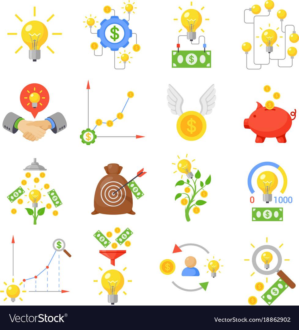 Crowd funding icon set