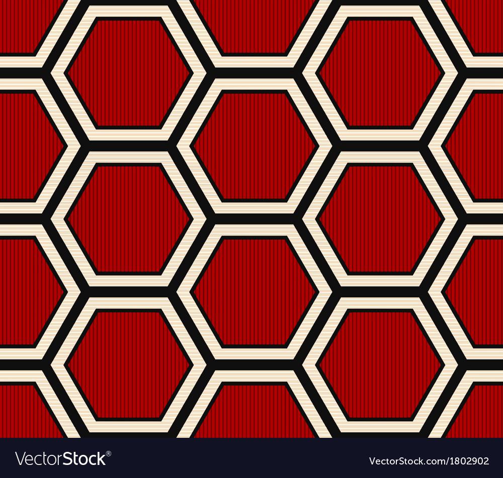 Seamless hexagonal pattern Royalty Free Vector Image