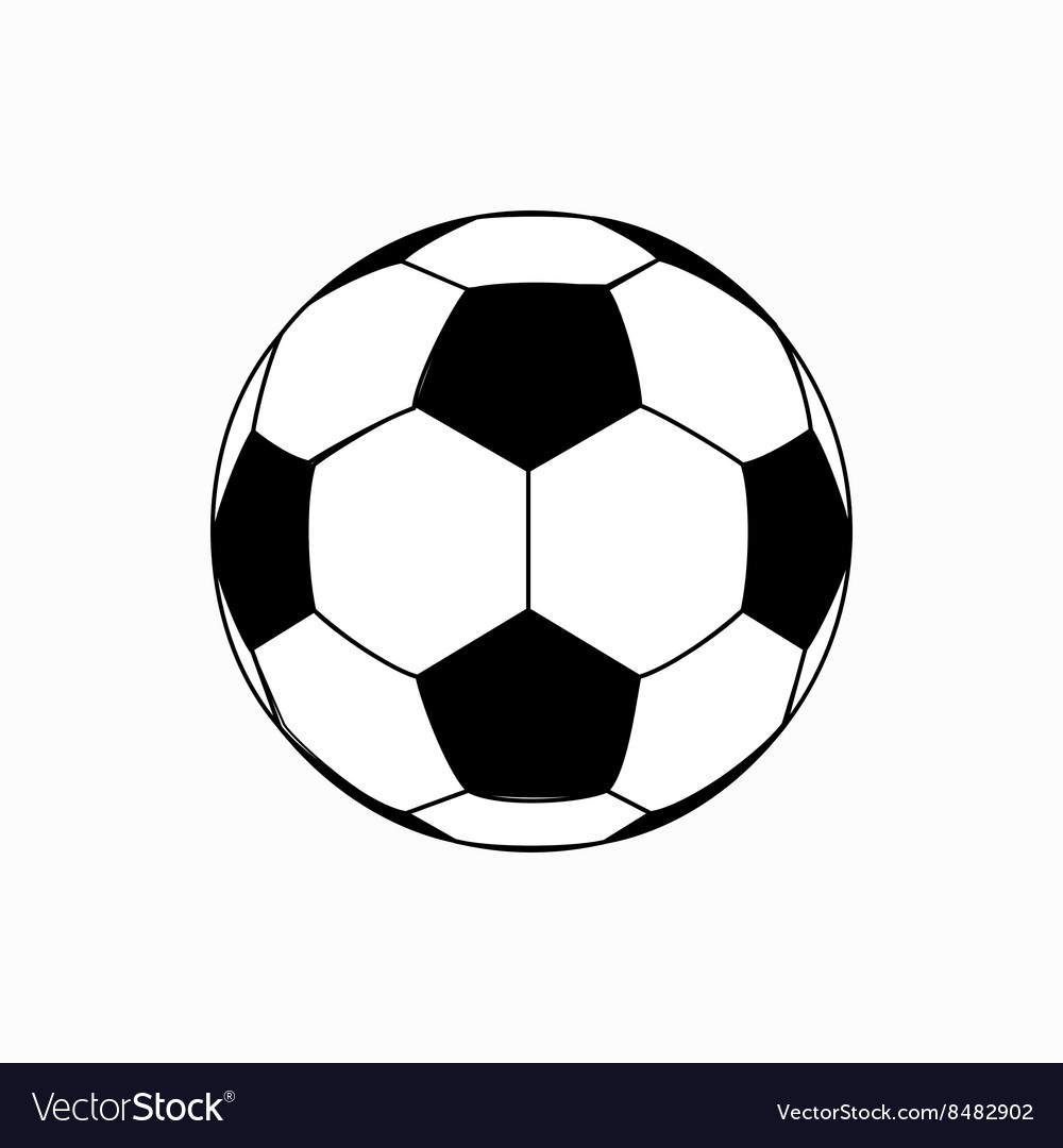Soccer ball icon isometric 3d style