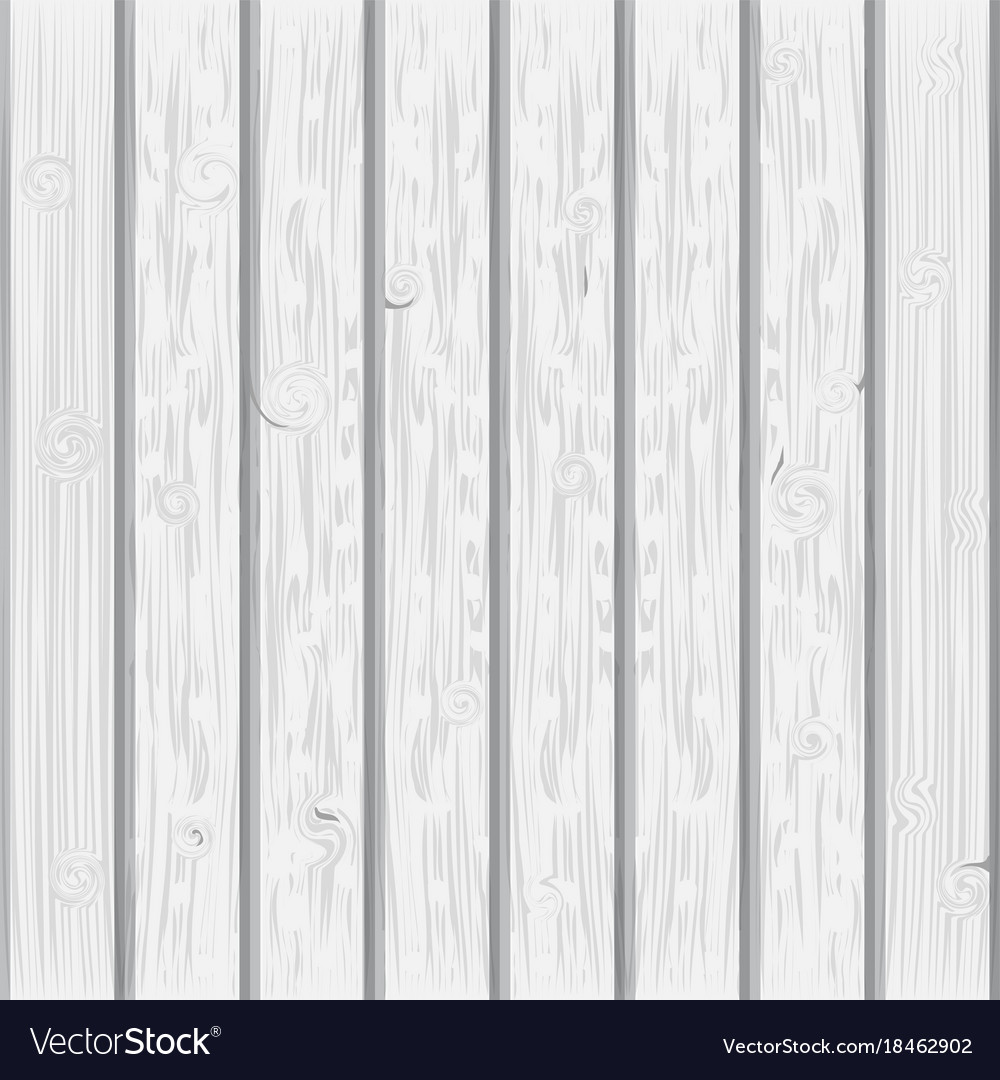 Charmant White Wood Plank Texture Background Vector Image
