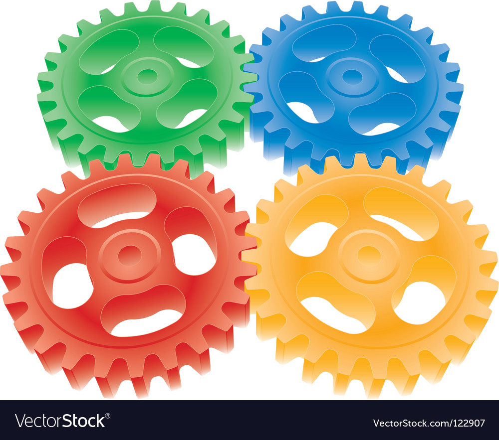 3d colorful gears