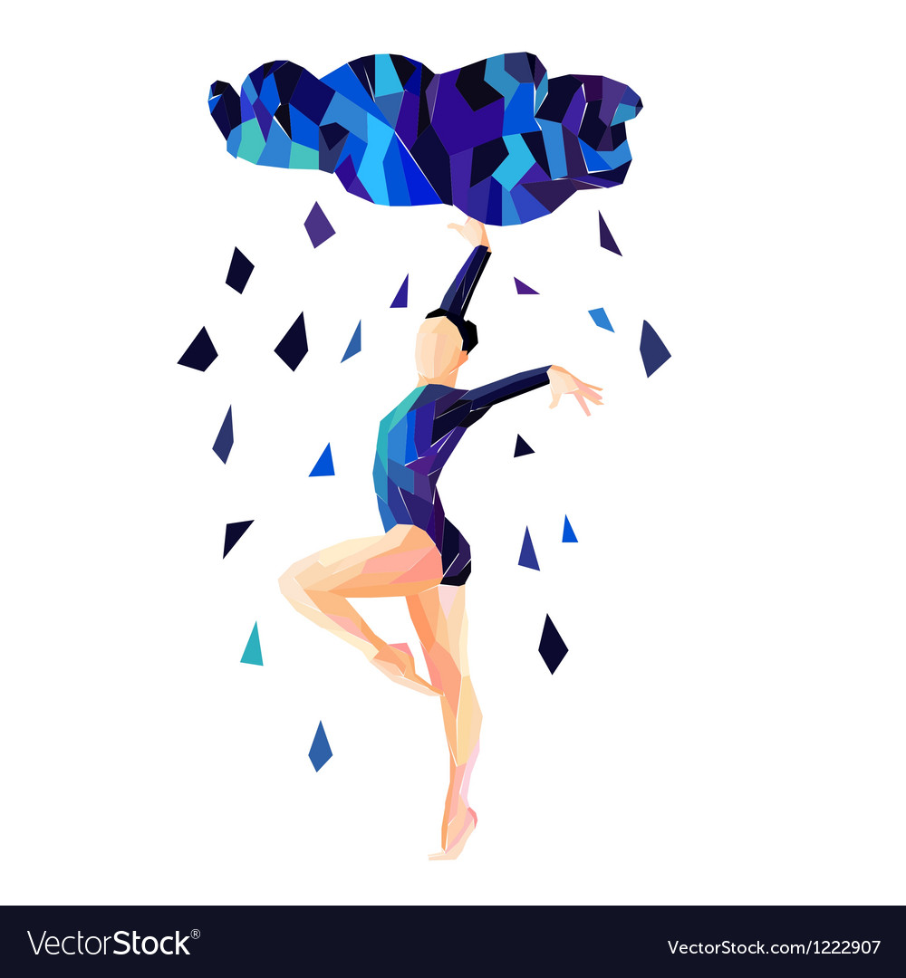 Abstract image of a dancing girl