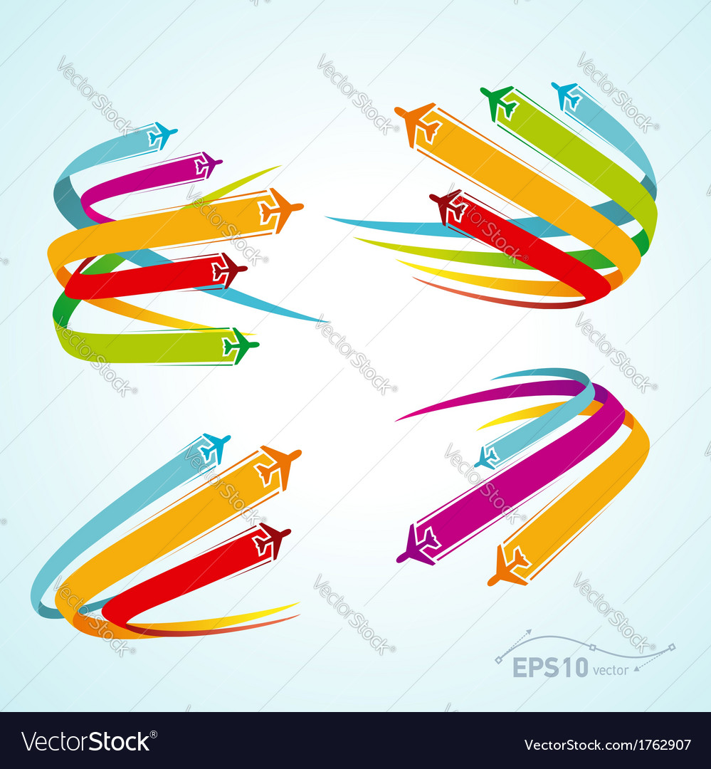 Airplane flight tickets air fly cloud sky vector image