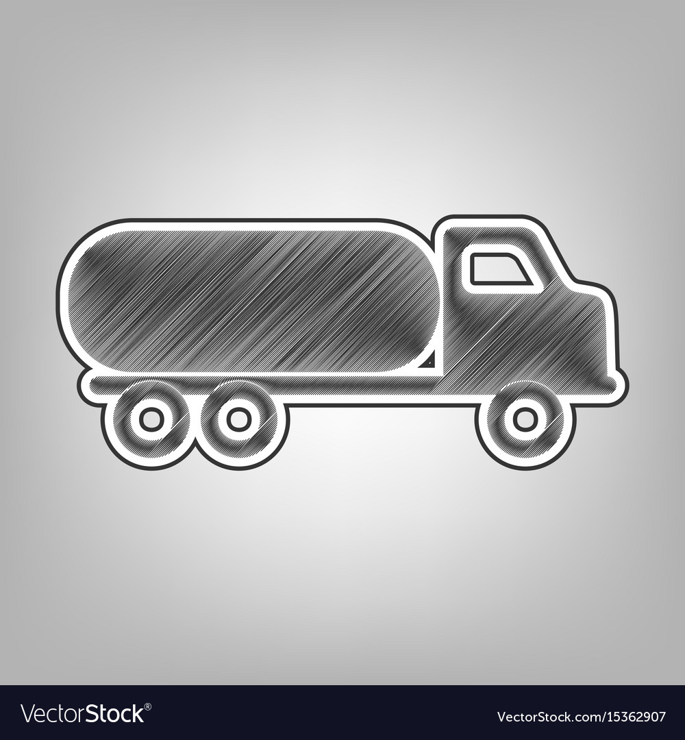 Car transports sign pencil sketch vector image