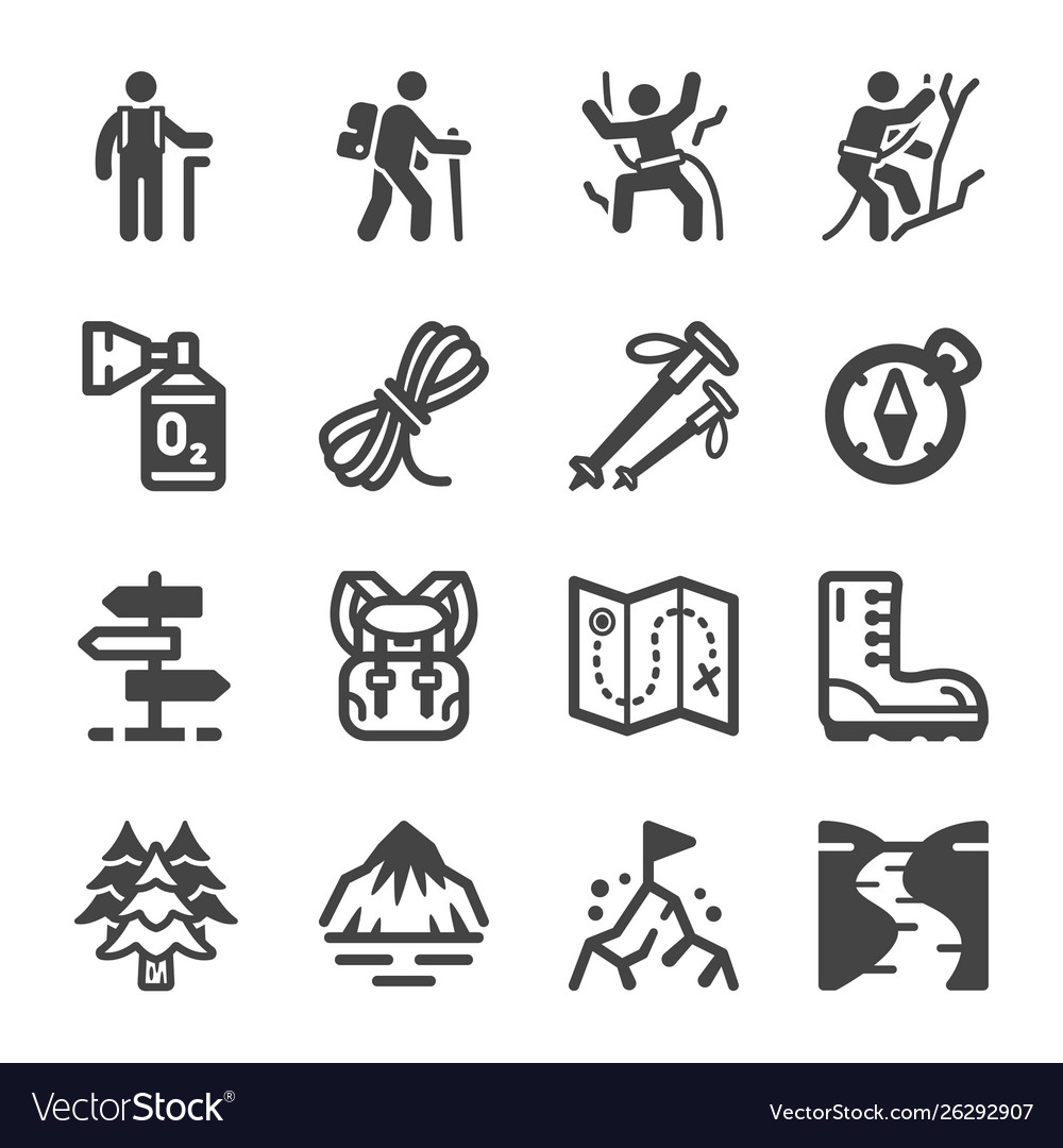 Hike icon set
