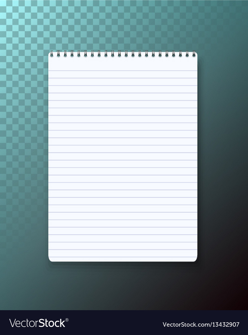 Notepad on transparent background vector image