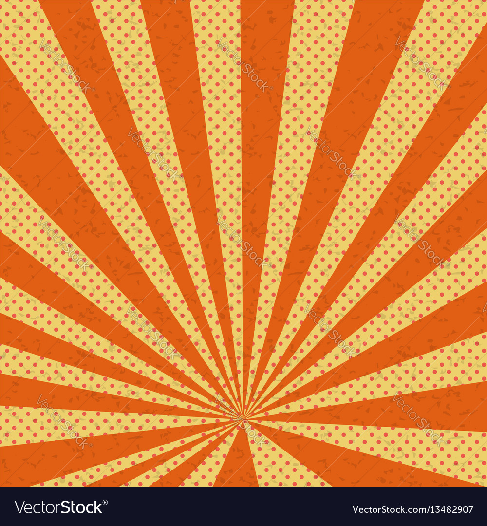 Old Paper Comic Book Orange Background Royalty Free Vector