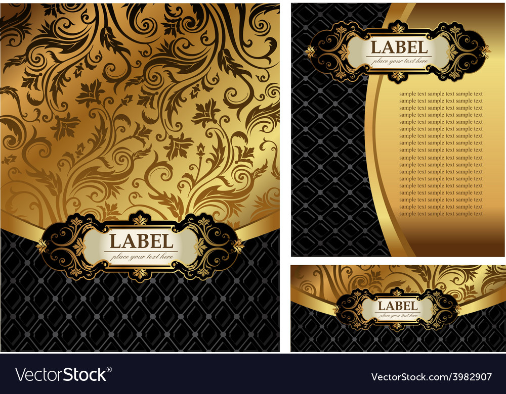 Ornate golden menu cover