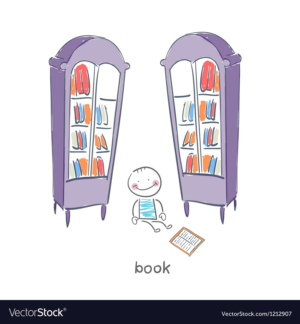 Reader of books vector image
