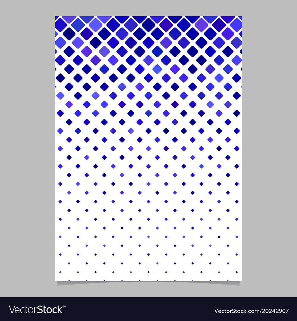 Square pattern flyer design - mosaic cover vector image