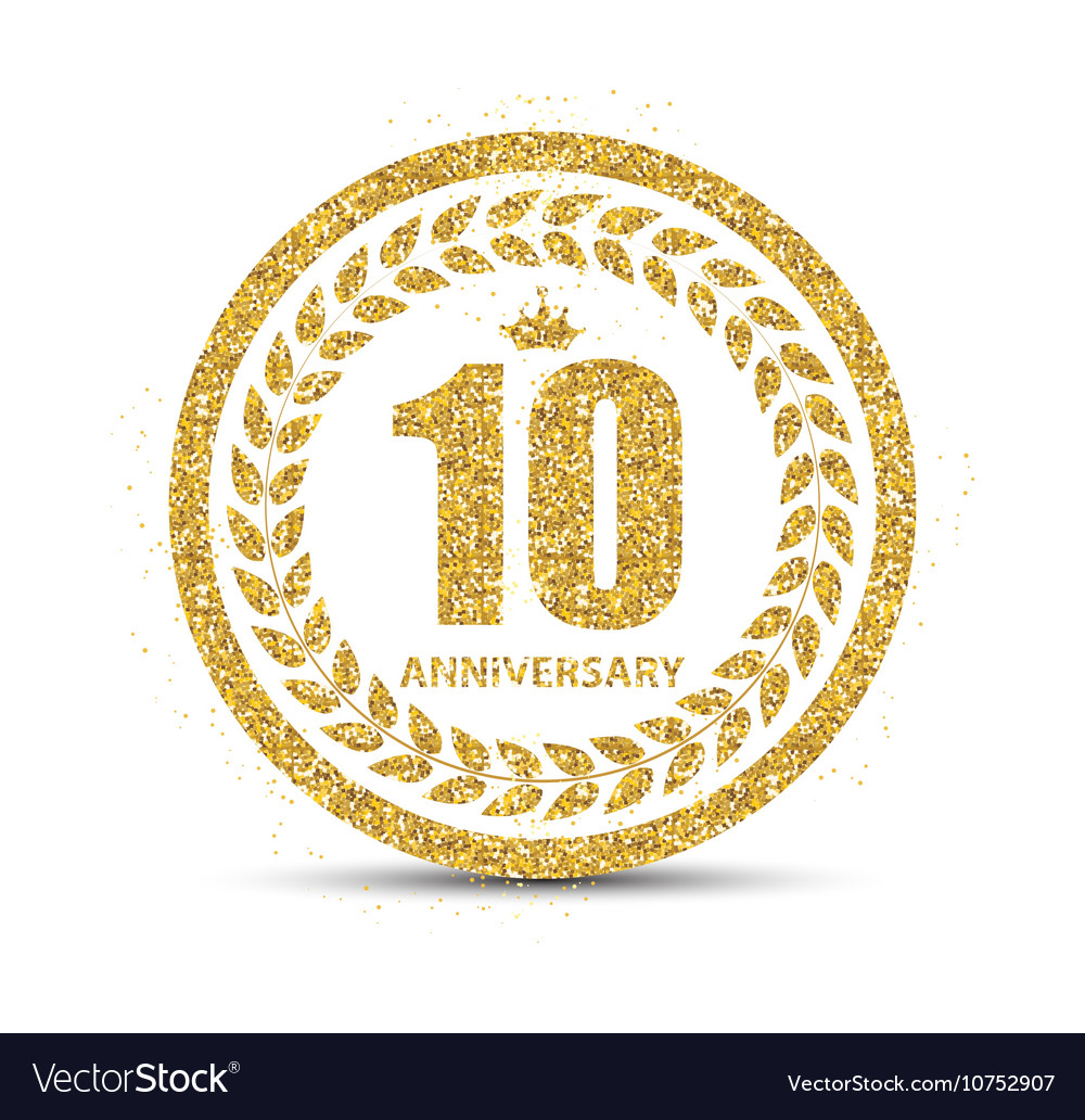 Template Logo 10 Years Anniversary Royalty Free Vector Image