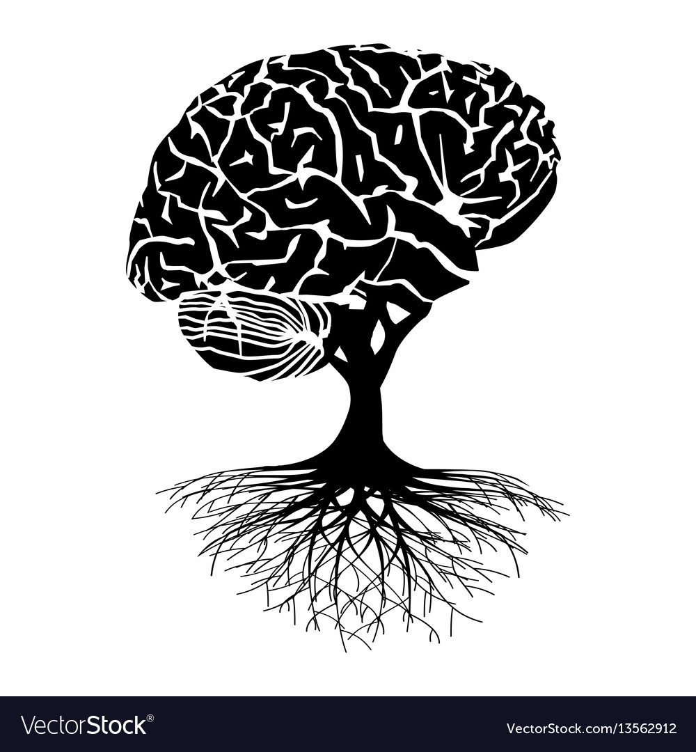 Brain tree vector image
