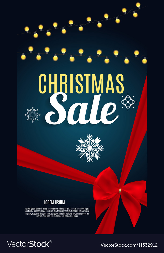 Christmas Sale Banner Background Business
