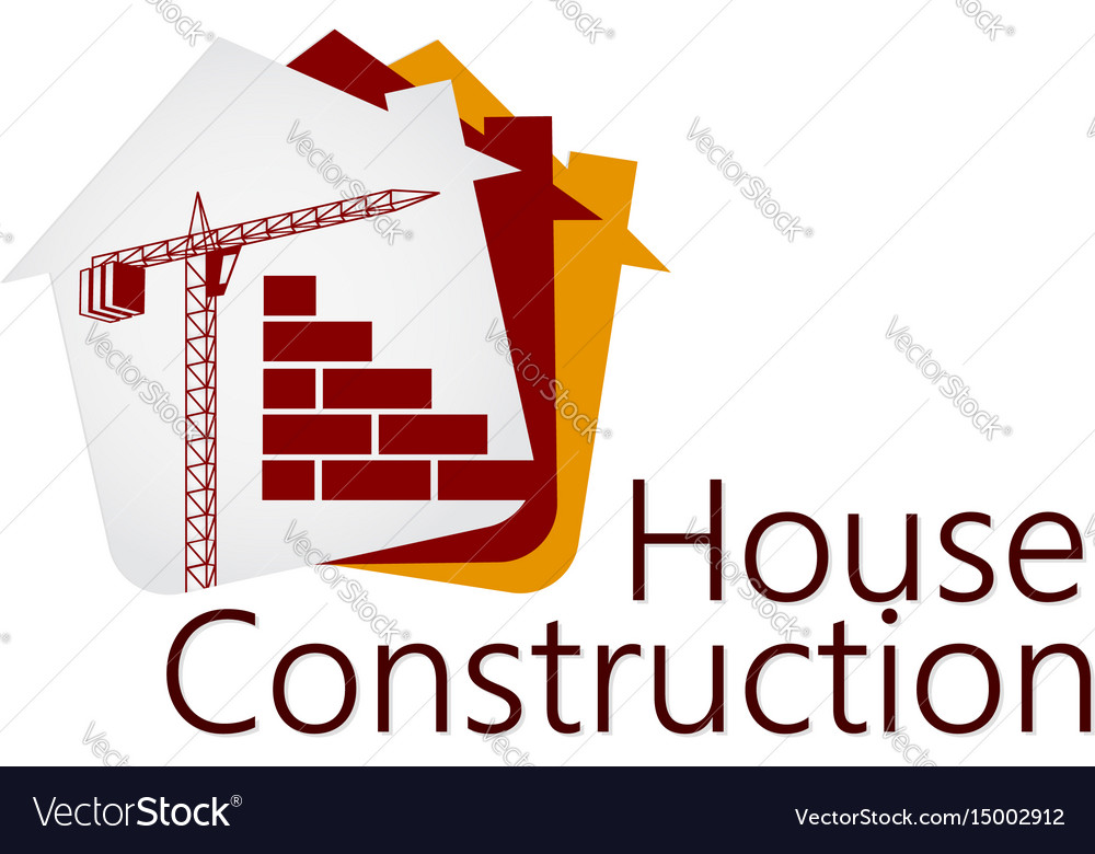 Construction of buildings symbol vector image