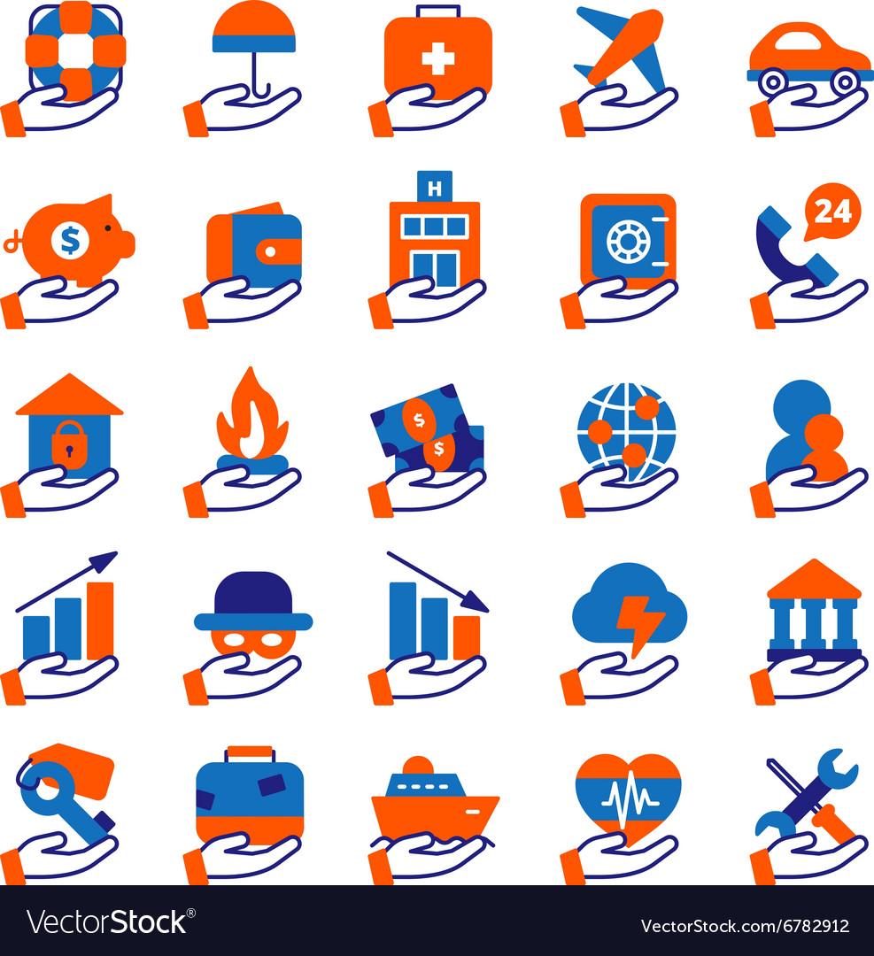Insurance Service Icons Set