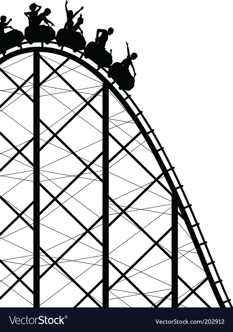 Rollercoaster vector image