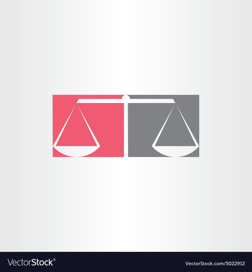 Scales of justice symbol design