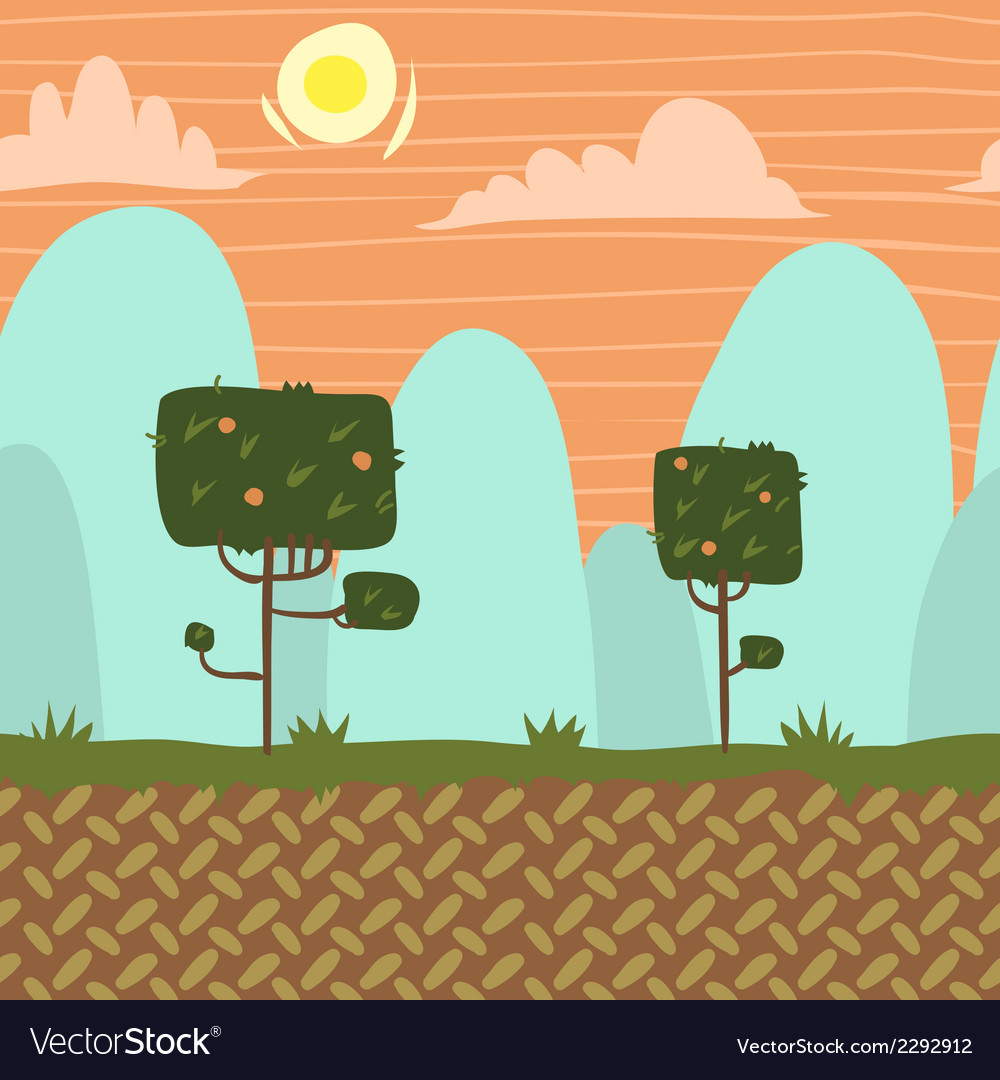 Seamnless forest garden game background