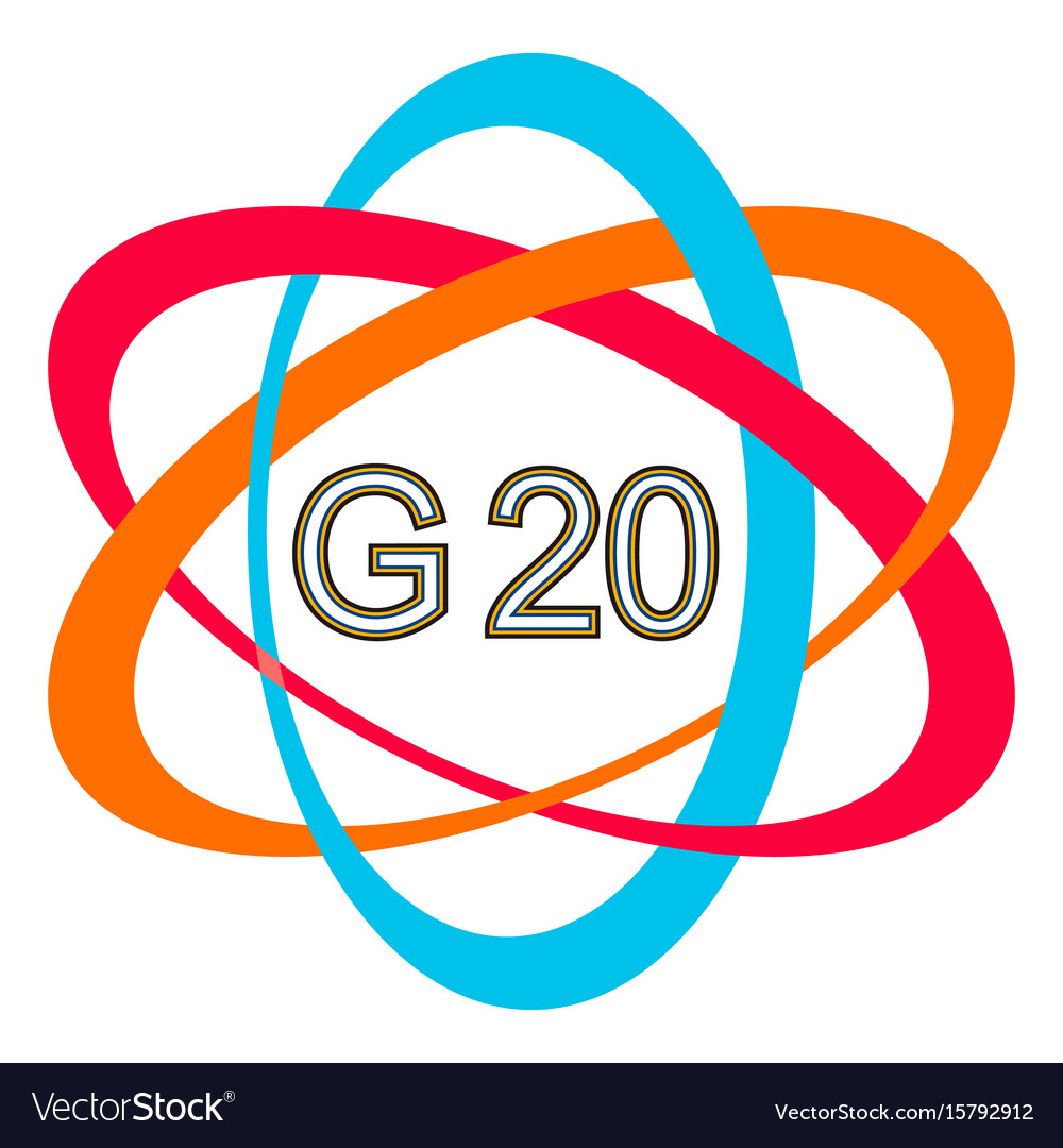 Symbol Logo Of The G20 Summit G 20 Summit Vector Image