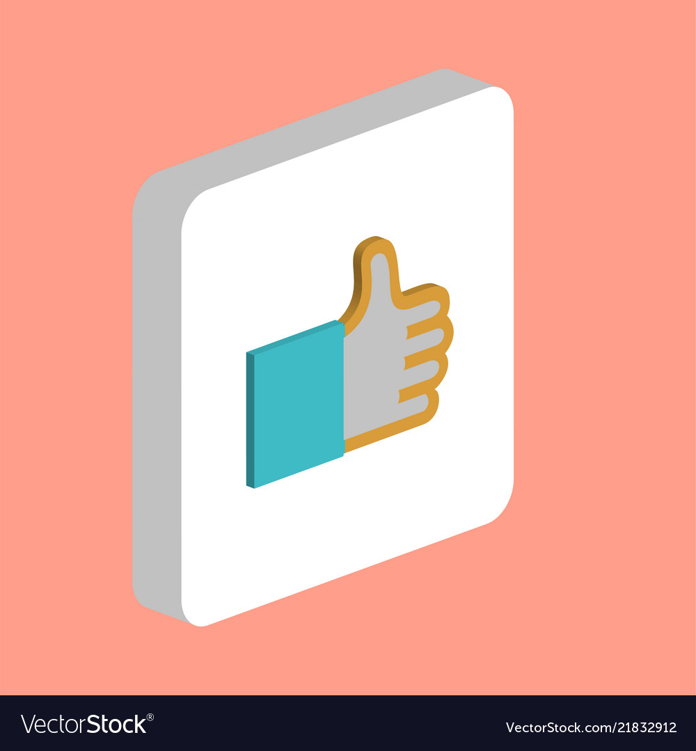 Thumbs up like computer symbol