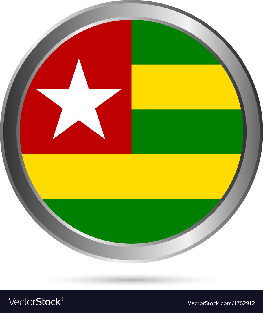 Togo flag button vector image