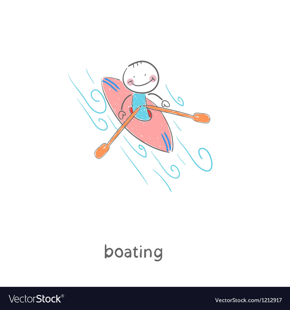 A man in a kayak vector image