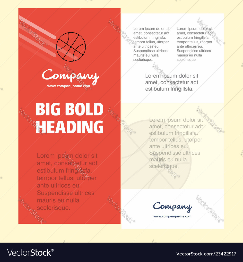 Basket ball business company poster template with
