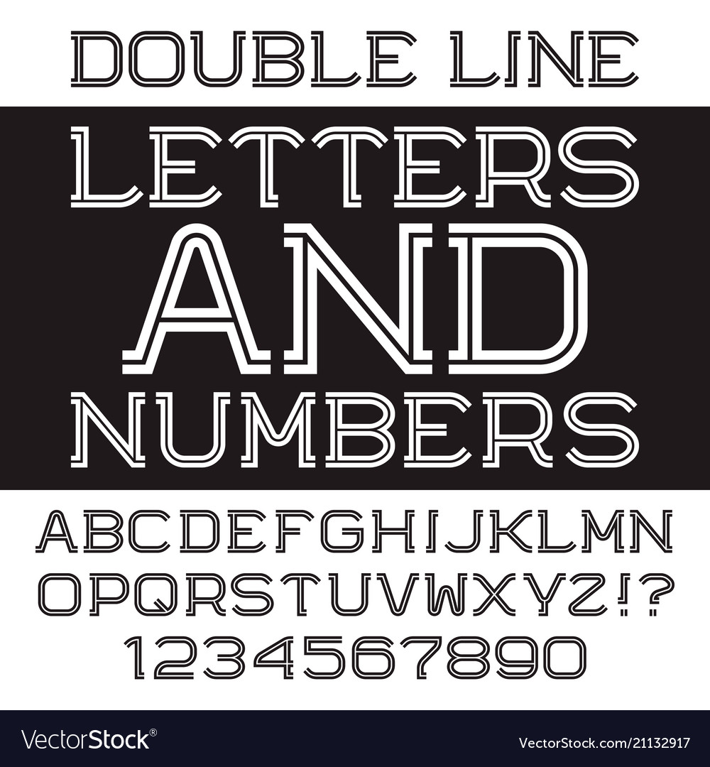Black white letters and numbers
