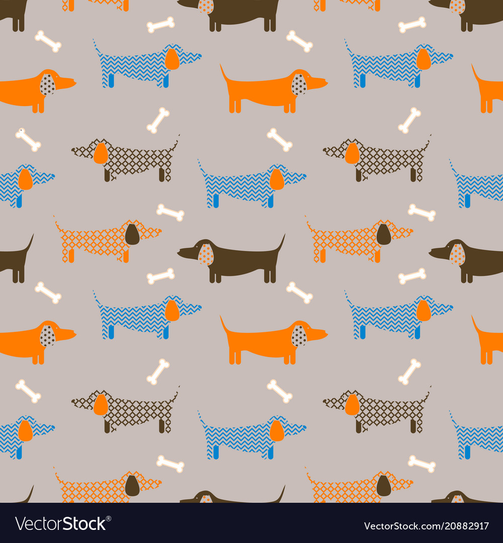Dog seamless taupe colored pattern