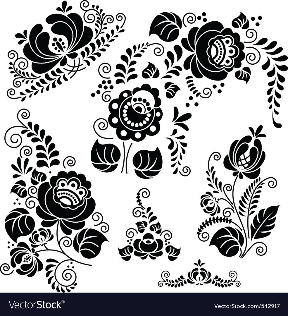 floral ornaments royalty free vector image vectorstock