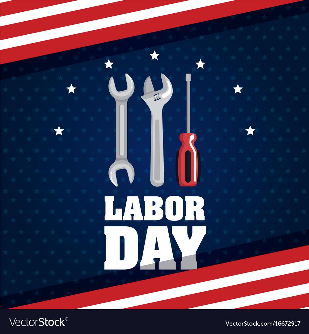 Labor day poster festival national celebration