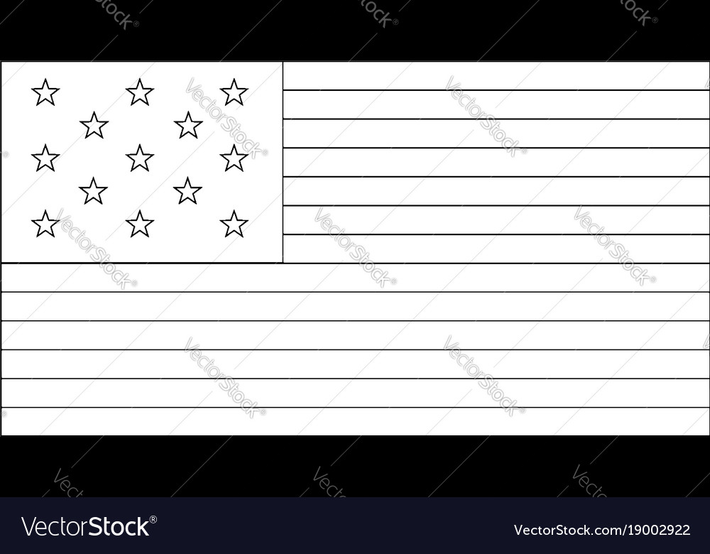 13 star united states flag 1776 vintage